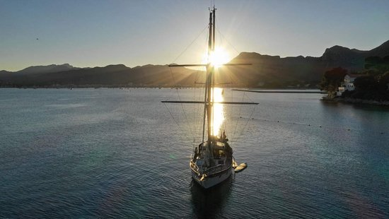 Anchored at Forteleza for a sunset sail
