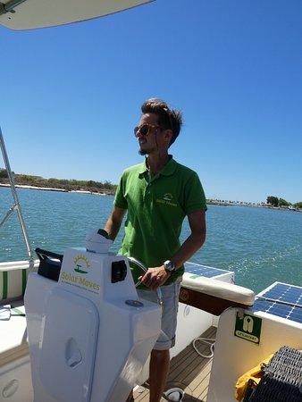 Solar Moves: Skipper Tomas.