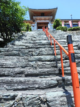 Wakaura Tenmangu: 石段の様子