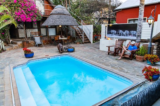 Our relaxing Pool and Bar area, where you can meet and mix with other likeminded travellers