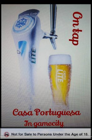 Casa Portuguesa Botswana: Yes , We have introduced Castle Light on TAP.... Enjoy