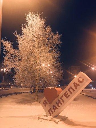 Langepas, Russia: Деревья в инее-красота