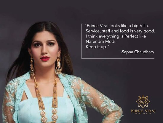Hotel Prince Viraj: Famous Dancer Miss.Sapna Choudhary stay and comments at Hotel Prince Viraj