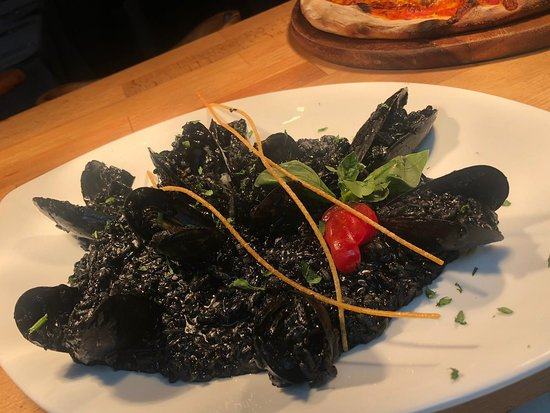 Choppington, UK: Like squid ink? Try this wonderful dish from our risotti menu.