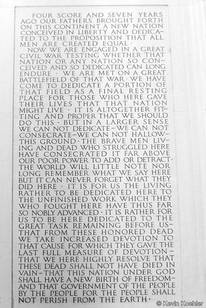 The words from his famous Gettysburg Address in the Lincoln Memorial in Washington D.C. USA