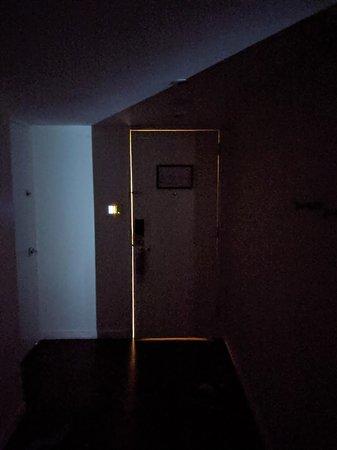 HUGE GAP between the door and the hallway