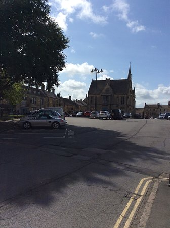 Free parking for two hours in centre of stow.