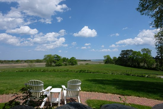 View of the salt marshes from the Inn's porch