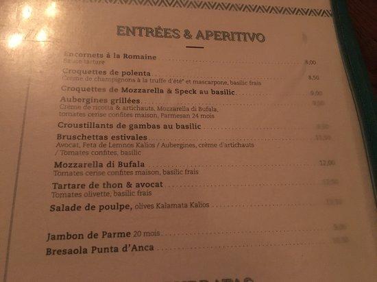 brasserie d auteuil carte menu entrées   Picture of Brasserie D'Auteuil, Paris   Tripadvisor