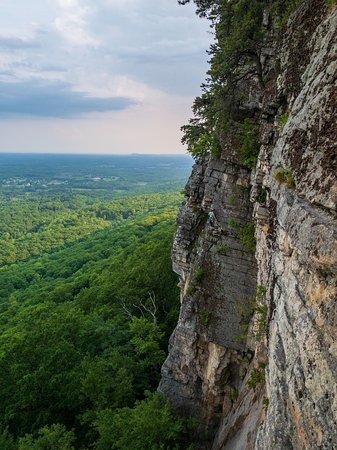 Mohonk Preserve: Climbers making their way up with less-than-ideal timing. Seen while rappelling after hearing thunder in the distance. Made it to the ground just as the first raindrops came down. Glad I found some folks who let me hitch a ride back to town!