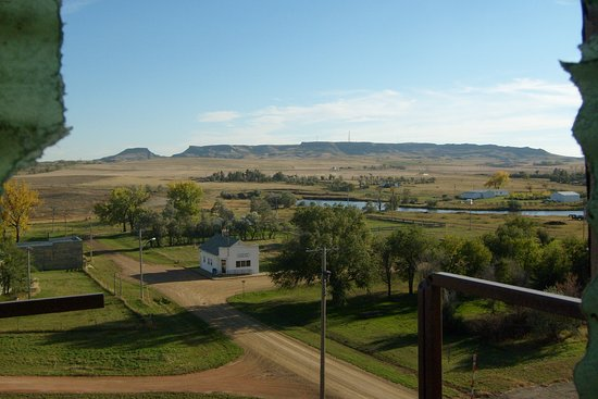 From Beach only 8 miles to Sentinel Butte and then south to the 2nd highest place in ND. Great visit and View.
