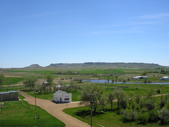 Another View of Sentinel Butte from the village of Sentinel Butte. A great place to visit on the way to or from Medora.