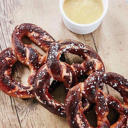 Park Street Kitchen: Pretzels sea salt   pimento cheese   honey mustard