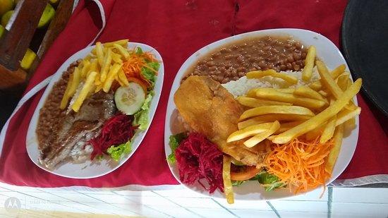 Quiosque Restaurante Azul Marinho: Prato feito/ prato executivo bem servido