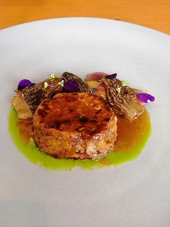 Duck cake with Morels