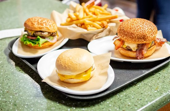 Variety of cheese stuffed burgers to choose from