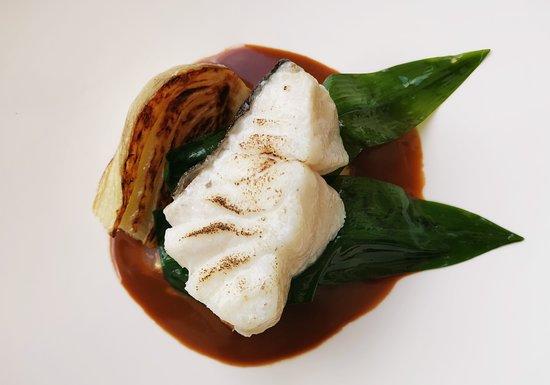 cod with wild garlic