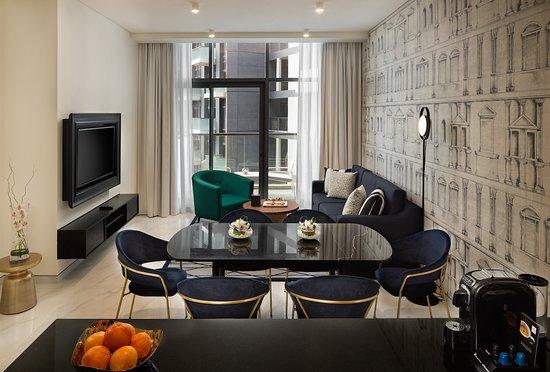 Millennium Atria Business Bay: Premium 1 Bedroom Apartment - Dining and Living Area