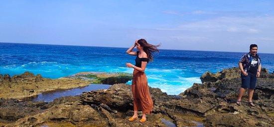 Nusa Lembongan, Indonesia: De magnifiques paysages Blue lagon
