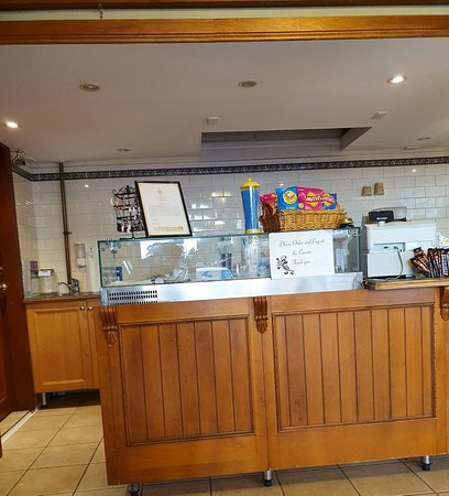 Albert's Cafe and Takeaway: counter and menu