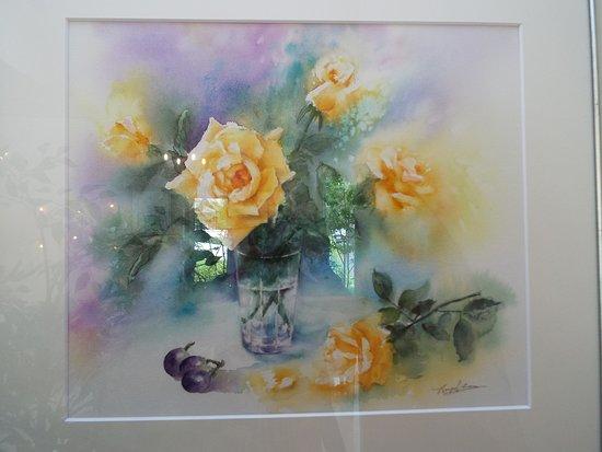 Izukogen Rose Terrace: 深澤豊子さんの薔薇の絵。