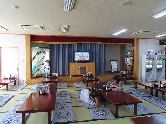 Chichibu Onsen Mangannoyu: 1階の食堂大広間!昼寝が出来ます。