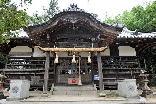 Kasaoka, Japan: 梅の紋が天神さま