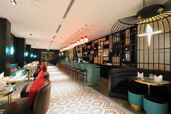 Jinjiang Metropolo Shanghai Xintiandi Hotel: 餐厅、吧台