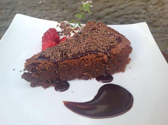 Homemade chocolate and almond torte. (Gluten free)