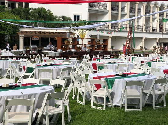Hilton Playa del Carmen, an All-Inclusive Adult Only Resort: Outdoor Mexican Fiesta.  Fantastic