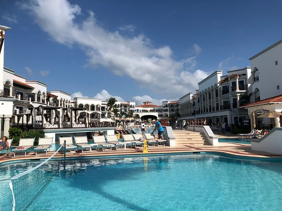 Hilton Playa del Carmen, an All-Inclusive Adult Only Resort: View across pool.