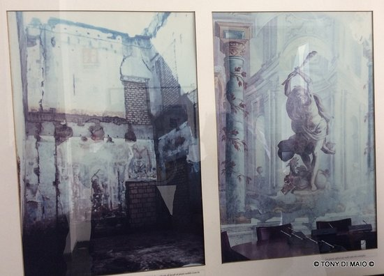 Palazzo Vallelonga: vecchie foto dello stato dei luoghi del dopoguerra