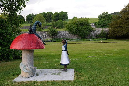 Many different figures to be seen as you journey around the fairy trail.