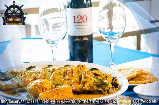 Pescaderia El Salmón Dorado: 🎉🎉🎉con lo mejor de la gastronomía caribeña en Pescaderia El Salmon Dorado te esperamos!!!🥂🌹💃 Info/ Reservas al 311 3222004 Cra 45 A #134 A - 65