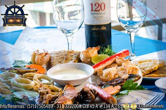 Pescaderia El Salmón Dorado: 🎉🎉🎉Este Fin de semana con lo mejor de la gastronomía caribeña en Pescaderia El Salmon Dorado te esperamos!!!🥂🌹💃 Info/ Reservas al 311 3222004 Cra 45 A #134 A - 65