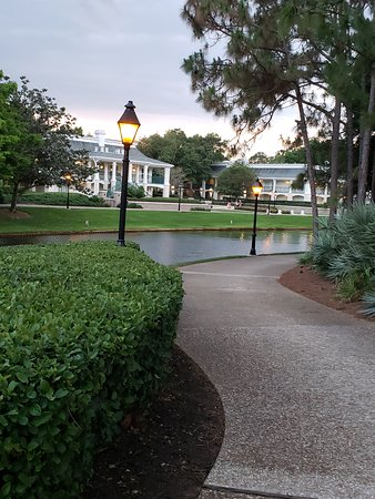 Disney's Port Orleans Resort - Riverside: The lake between the lobby and the rooms and where the ferry will take you to Disney springs on a ferry on the lake