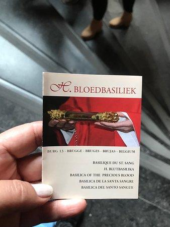 folheto explicativo de onde está o sangue de Jesus