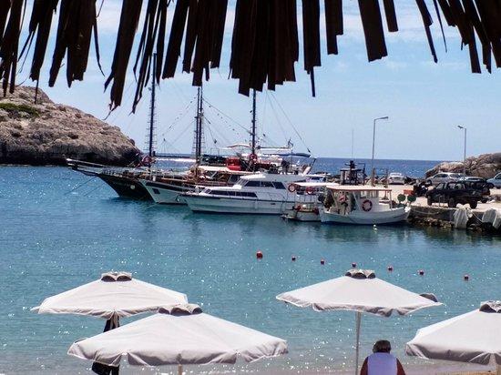 Port jachtowy w Kolimbii, miejscu naszego pobytu.