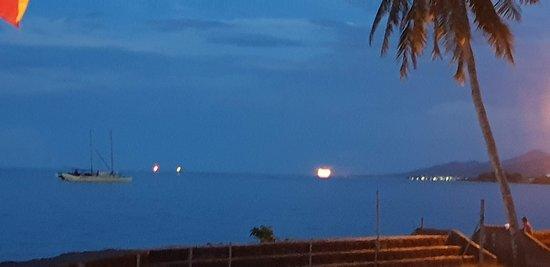 Moonrise from Sails Restaurant in Apia, Samoa