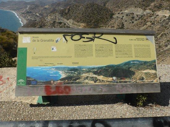cartello esplicativo del parco naturale di cabo de gata