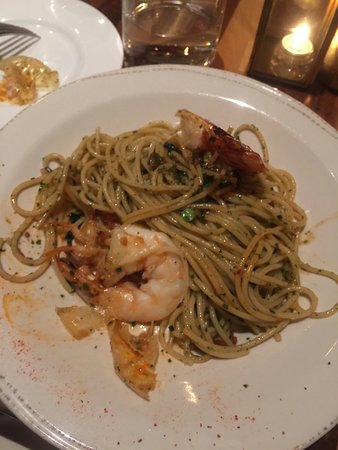 Spaghetti with rock shrimp