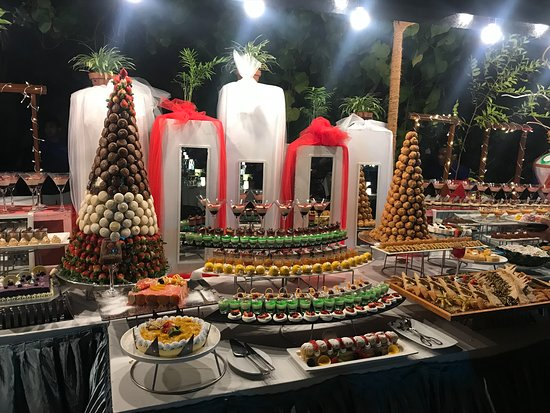 New Year's Eve dessert buffet