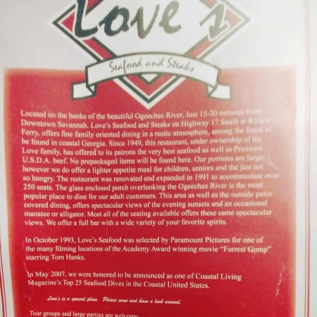Love's Seafood Restaurant: some information about the place
