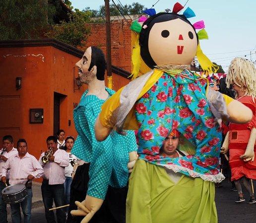 Celebrating the sacred cross in Valle de Maiz.