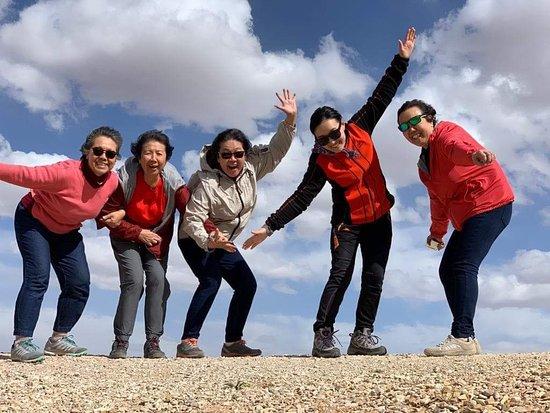 Flying ladies in Mongolian blue sky...😆