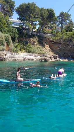 Fun on the paddleboards,  snorkelling and swimming