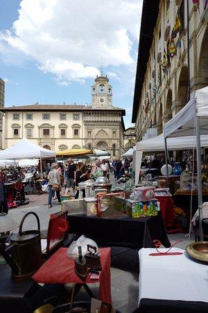 View towards clock tower in Piazza Grande