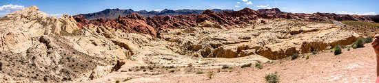 Las Vegas, NV: A panorama of Valley of Fire State Park, Nevada