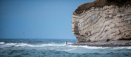 Store Heddinge, الدنمارك: Det er muligt at surfe ved Stevns Klint
