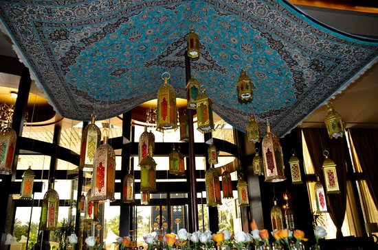 Shanashil Restaurant: Ramadan decorations May 2019 Babylon Hotel lobby near restaurant